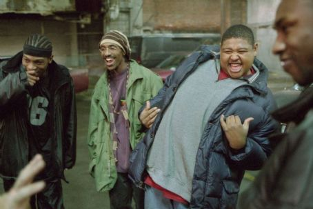De'Angelo Wilson Strike, De'Angelo Wilson and Omar Benson Miller in Universal's 8 Mile - 2002