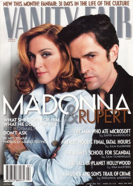Rupert Everett, Madonna - Vanity Fair Magazine Cover [United Kingdom] (March 2000)