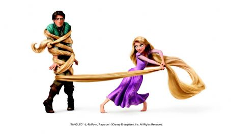 Rapunzel (L-R) Flynn (Zachary Levi),  (Mandy Moore) ©Disney Enterprises, Inc. All Rights Reserved.