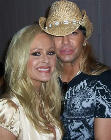 Katie Lohmann  and Brett Michaels
