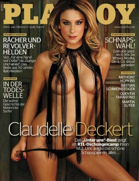 Claudelle Deckert - Playboy Magazine Cover [Germany] (February 2013)