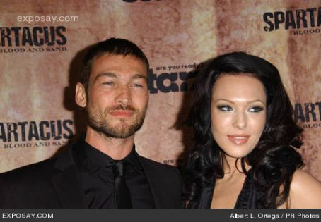 "Andy Whitfield and Erin Cummings in ""Spartacus- Blood and Sand New York Premiere."""