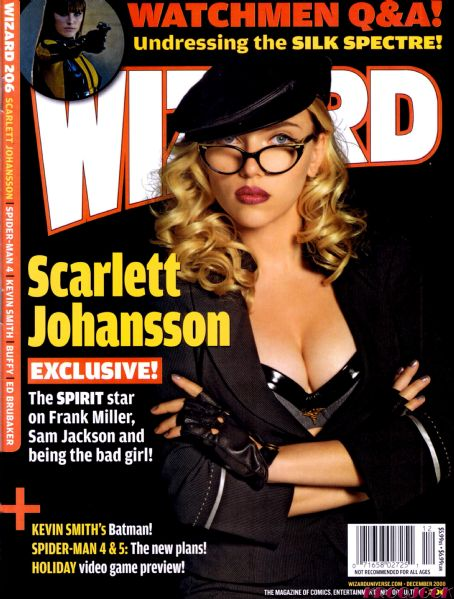 Scarlett Johansson - Wizard Magazine Cover [United States] (December 2008)
