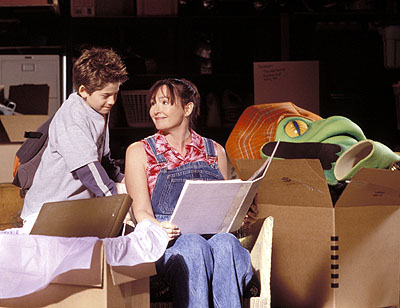 Alex D. Linz  and Nora Dunn in Disney's Max Keeble's Big Move - 2001