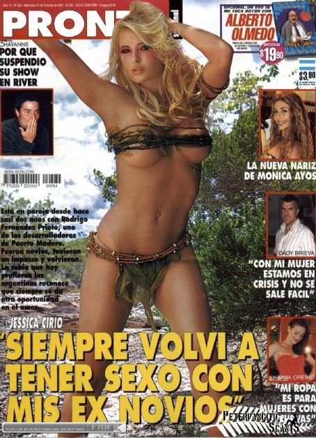Jessica Cirio - Pronto Magazine Cover [Argentina] (10 October 2007)
