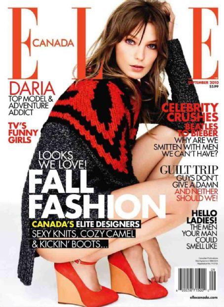 Daria Werbowy - Elle Magazine Cover [Canada] (September 2010)