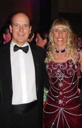Tracy Mattes Prince Albert II of Monaco and  at the 2005 Princess Grace Awards Gala in New York City