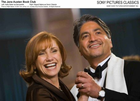 Kathy Baker Left:  as Bernadette; Right: Miguel Nájera as Senor Obando. Photo by Ralph Nelson © 2007 Tom LeFroy, LLC, courtesy Sony Pictures Classics. All Right Reserved.