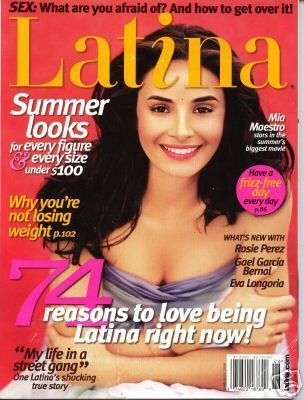 Mía Maestro - Latina Magazine Cover [United States] (July 2006)