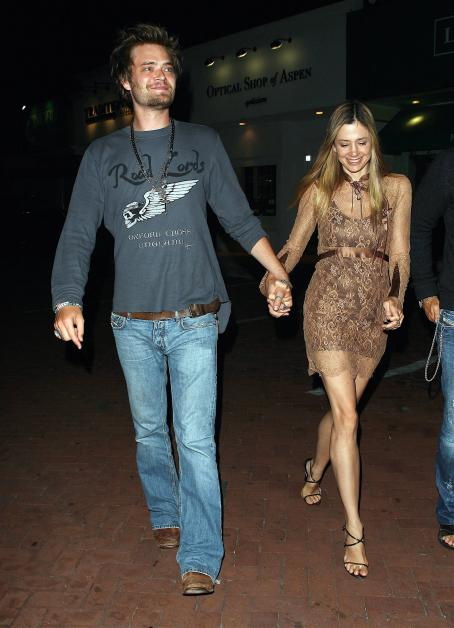 Christopher Backus Mira Sorvino And  At Nobu Restaurant In Malibu, August 12 2008