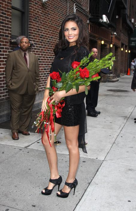 Ximena Navarrete Jimena Navarrete - Arriving At The Late Show With Letterman - 2010-08-25