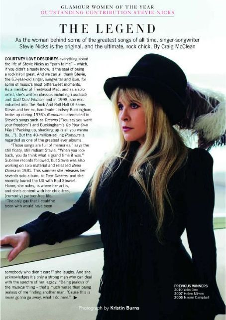 Stevie Nicks - Glamour Magazine Pictorial [United Kingdom] (July 2011)