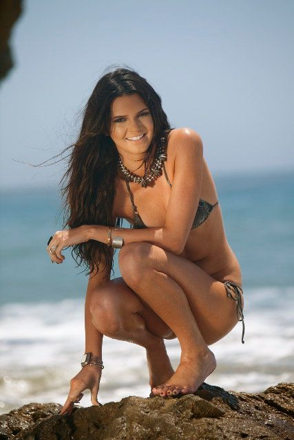 Kendall Jenner - Kendall's Beautiful Beach Photo Shoot by Nick Saglimbeni July 2010