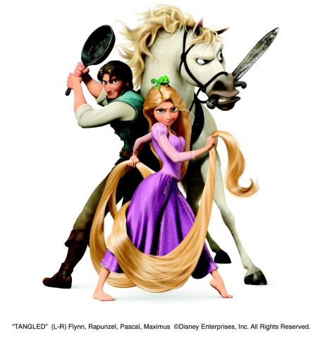 Rapunzel (L-R) Flynn, , Pascal, Maximus ©Disney Enterprises, Inc. All Rights Reserved.