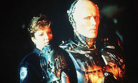 Peter Weller Nancy Allen and  in Robocop (1987)