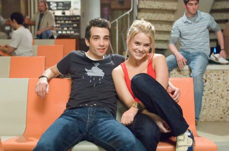 "Kirk (Jay Baruchel, left), an average Joe, cannot believe his luck when the beautiful Molly (Alice Eve, right) falls for him in the DreamWorks Pictures comedy ""She's out of My League,"" a Paramount Pictures release. Photo Credit: Darren M"