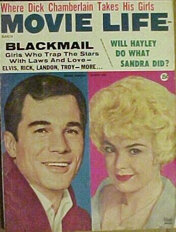 George Maharis, Sandra Dee - Movie Life Magazine Cover [United States] (March 1962)