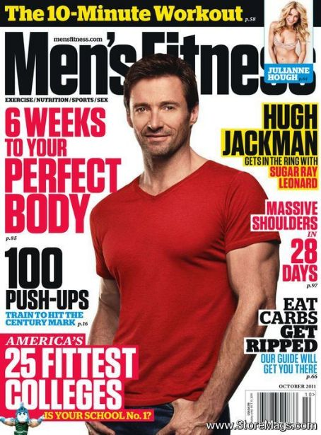 Hugh Jackman - Men's Fitness Magazine Cover [United States] (October 2011)