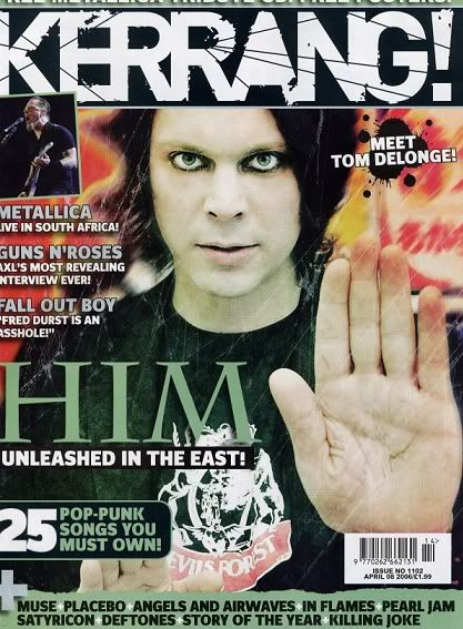 Ville Valo - Kerrang Magazine Cover [United Kingdom] (8 April 2006)