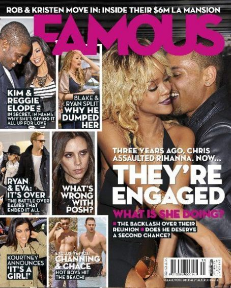 Chris Brown, Rihanna - Famous Magazine Cover [Australia] (1 March 2012)