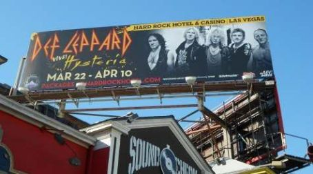 DEF LEPPARD:  Hollywood Billboard Advertising Las Vegas Shows Unveiled
