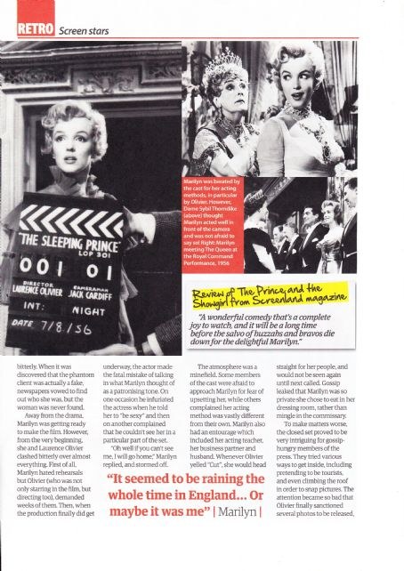 Marilyn Monroe - Yours Retro Magazine Pictorial [United Kingdom] (25 March 2017)