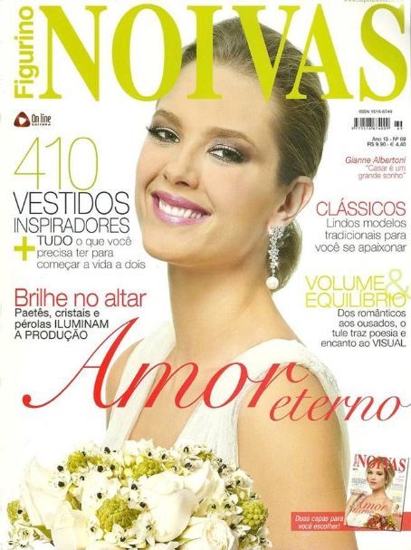 Gianne Albertoni - Figurino Noivas Magazine Cover [Brazil] (March 2012)