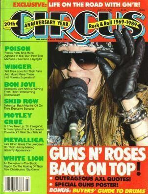 Axl Rose - Circus Magazine Cover [United States] (31 July 1989)