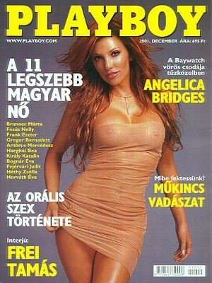 Angelica Bridges - Playboy Magazine Cover [Hungary] (December 2001)