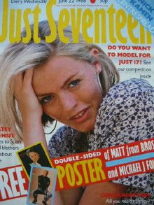 Patsy Kensit - Just Seventeen Magazine Cover [United Kingdom] (22 June 1988)