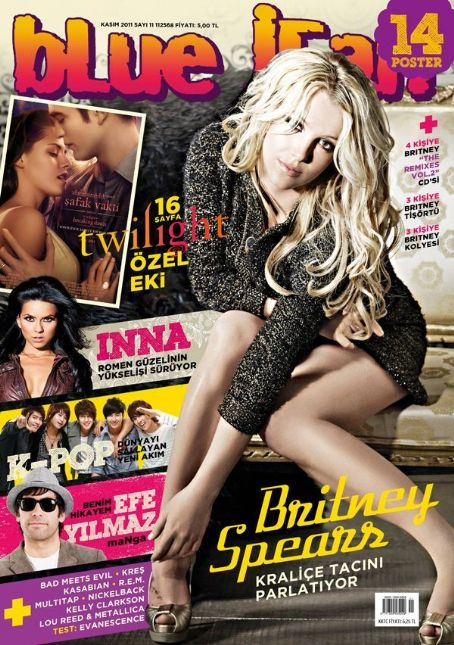 Britney Spears, Kristen Stewart, Robert Pattinson, Inna - blue jean Magazine Cover [Turkey] (November 2011)