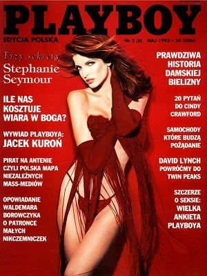 Stephanie Seymour - Playboy Magazine Cover [Poland] (May 1993)