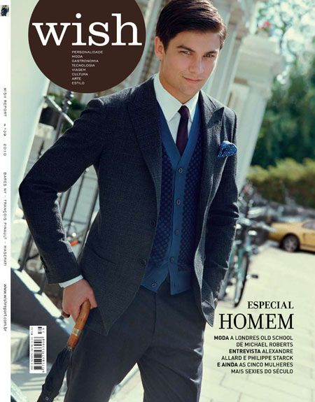 Raphael Sander - Wish Report Magazine Cover [Brazil] (September 2010)