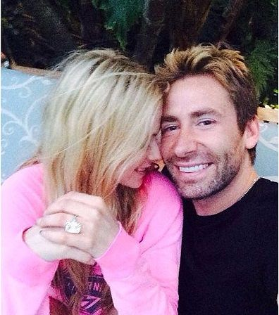 Avril Lavigne Celebrates Her Anniversary With Huge 17-Carat Diamond Ring from Husband Chad Kroeger