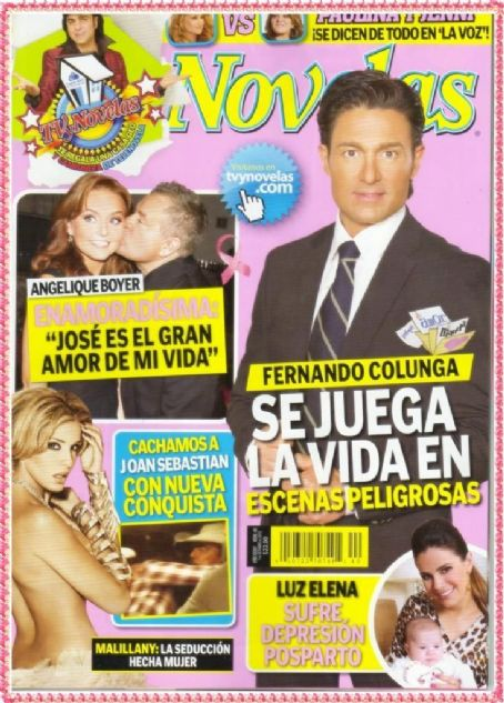 Fernando Colunga - TV Y Novelas Magazine Cover [Mexico] (1 October 2012)