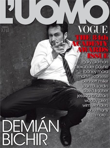 Demián Bichir - LUomo Vogue Magazine Cover [Italy] (1 February 2012)