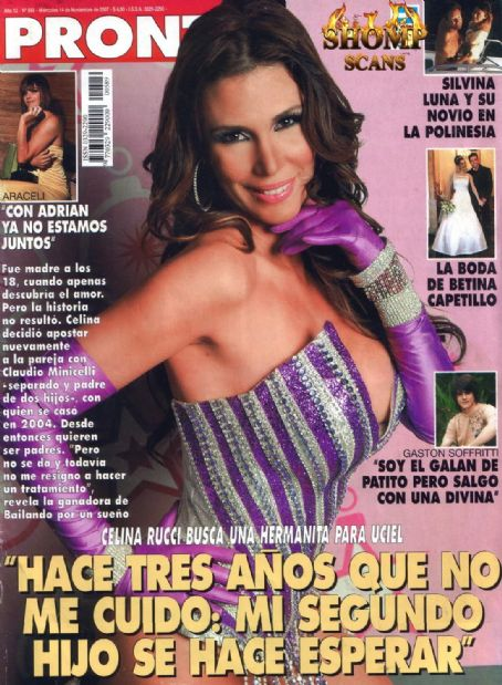 Celina Rucci - Pronto Magazine Cover [Argentina] (14 November 2007)