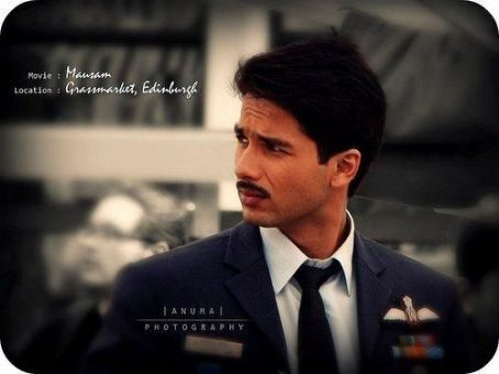 Shahid Kapoor for Mausam shoot