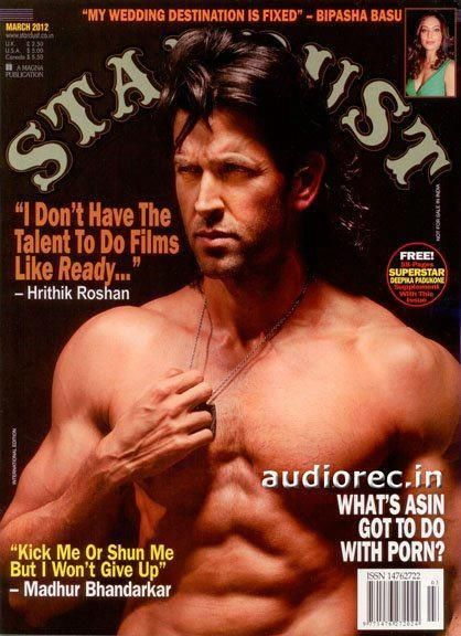 Hrithik Roshan - Stardust Magazine Cover [India] (March 2012)