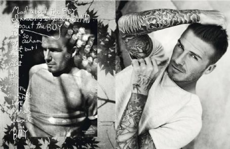 David Beckham Elle UK July 2012