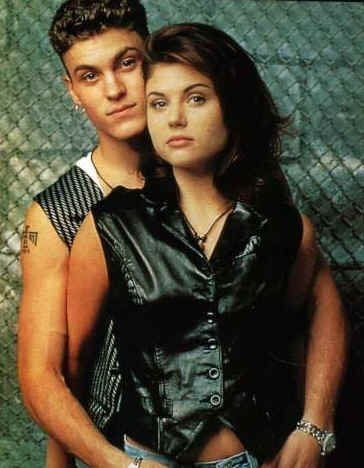 Valerie Malone Brian Austin Green as David Silver and Tiffani Thiessen as  in Beverly Hills,90210 (1994)