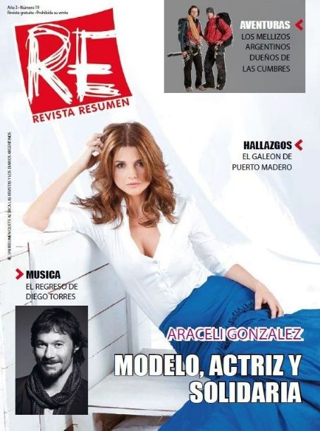 Araceli González - Resumen Magazine Cover [Argentina] (March 2010)