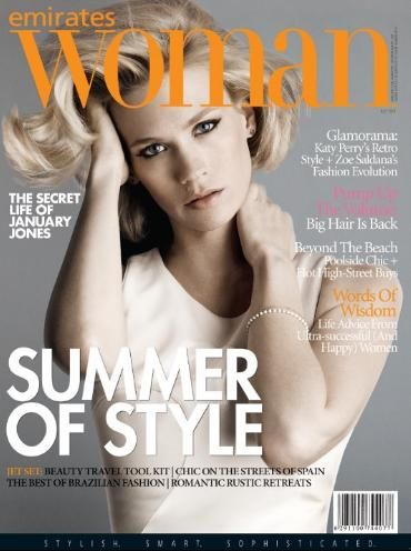 January Jones - Emirates Woman Magazine Cover [United States] (July 2011)