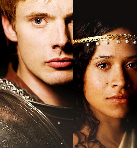 Angel Coulby and Bradley James for queen and country.