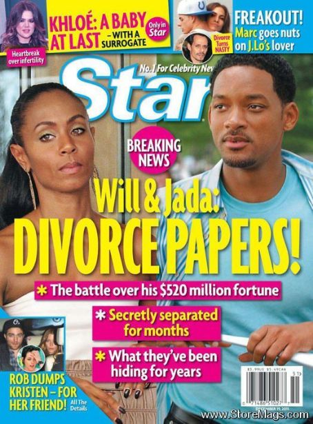 Will Smith, Jada Pinkett Smith - Star Magazine Cover [United States] (19 December 2011)