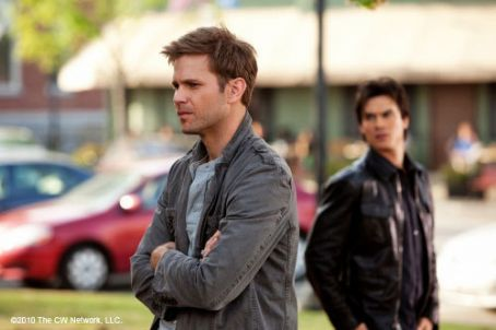 Damon Salvatore Matthew Davis As Alaric Saltzman And Ian Somerhalder As  In The Vampire Diaries (2009)