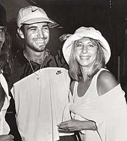Andre Agassi and Barbra Streisand