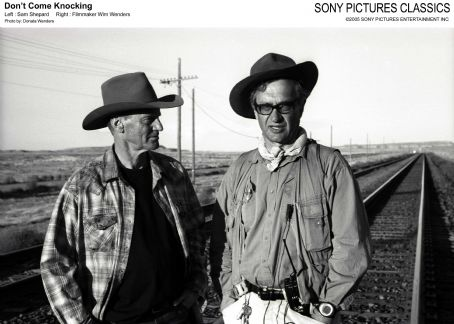 Left: Sam Shepard; Right: Filmmaker Wim Wenders. Photo by: Donata Wenders.