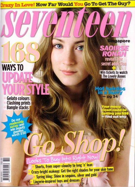 Saoirse Ronan - Seventeen Magazine [Singapore] (March 2010)