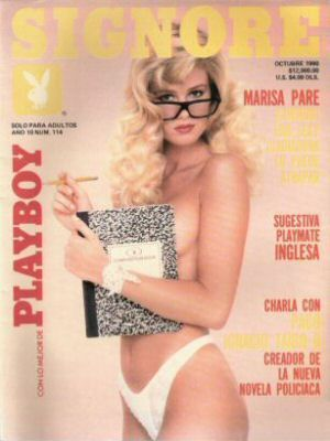 Melissa Evridge - Playboy Magazine Cover [Mexico] (October 1990)